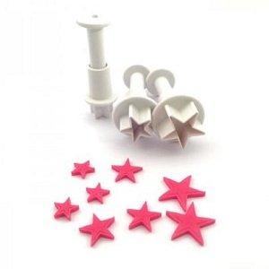 Nicoles Zuckerwerk Dekofee Stempelausstecher Mini Sterne