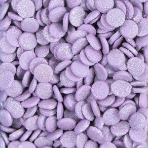 Nicoles Zuckerwerk Konfetti Metallic Violett Tortendekoration