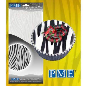 Nicoles Zuckerwerk PME Prägematte Zebra
