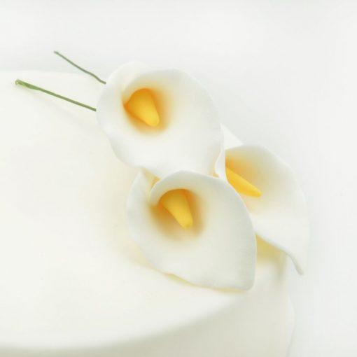 Nicoles Zuckerwerk Feinzucker Blüten Calla Lily 3er