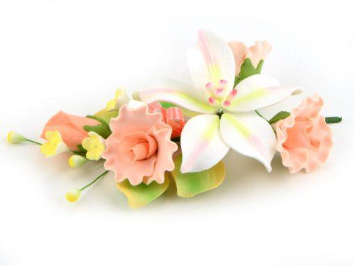 Nicoles Zuckerwerk Feinzucker Bouquet Curly Rose Freesia