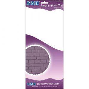 Nicoles Zuckerwerk Shop PME Impression Mat Brick Design