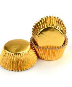 Nicoles Zuckerwerk Shop Cake-Masters Muffinkapseln Alu gold